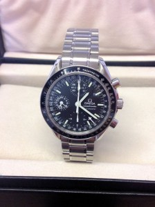 Omega replica Speedmaster 3520.50.00 Day-Date Black Dial2