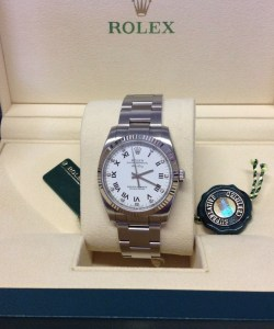 Rolex replica Air King 114234 34mm White Diamond