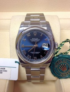 Rolex replica Datejust 116200 36mm Blue Roman3