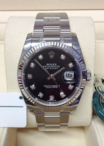 Rolex replica Datejust 36mm 116234 Black Diamond