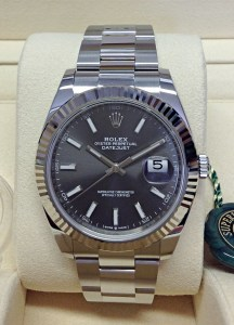 Rolex replica Datejust 41mm 126334 Rhodium Dial3