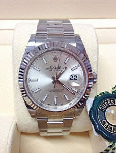 Rolex replica Datejust 41mm 126334 Silver Dial orologio copia