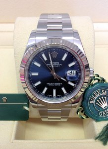 Rolex replica Datejust II 116334 Blue Baton Dial orologio copia5