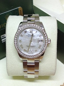 Rolex replica Datejust Lady 31mm 178384 Diamond Bezel