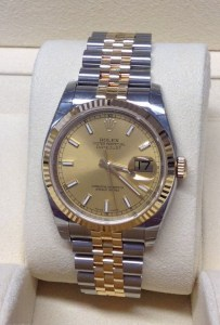 Rolex replica Datejust acciaio oro bi-colour 36mm 116233d