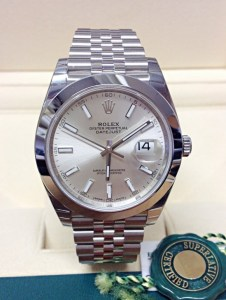 Rolex replica Datejust cally 41 126300 Silver Dial2
