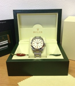 Rolex replica Milgauss White Dial 116400 copia3