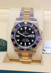 Rolex replica Submariner Date 116613LN Bi-Colour Black2