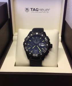 Tag Heuer replica Aquaracer Chronograph CAJ2180 Titanium Carbide 324