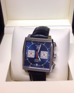 Tag Heuer replica Monaco CAW2111 39mm Blue Dial
