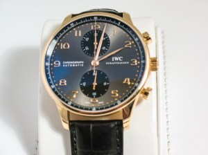 iwc replica portoghese rose gold black dial pelle